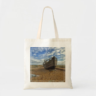 Abandoned Wooden Fishing Boat   Dungeness Tote Bag