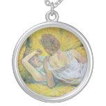 Abandonment The Pair by Henri de Toulouse-Lautrec Custom Necklace