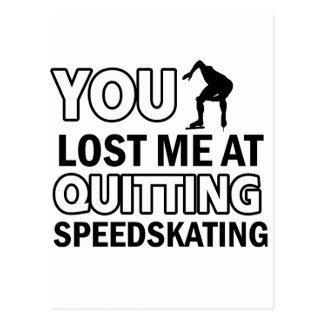Abandono del Speedskating Tarjeta Postal