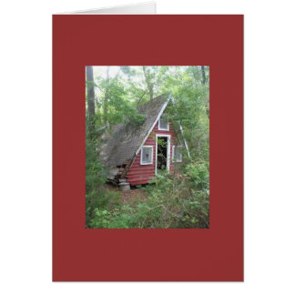 Abanoned Vacation Cottage in the Woods Card