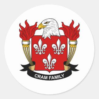 Abarrote del escudo de la familia pegatina redonda