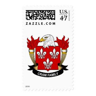 Abarrote del escudo de la familia sellos postales