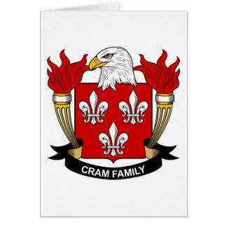 Abarrote del escudo de la familia tarjeta de felicitación