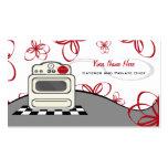 Abastecedor/cocinero rojos de la cocina de la estu tarjeta de visita