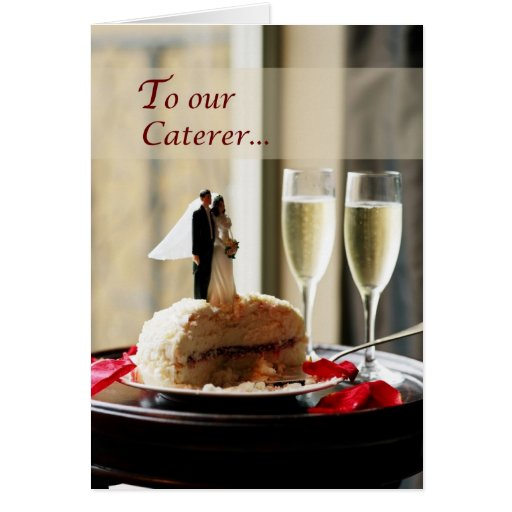 Abastecedor del boda, gracias tarjeta
