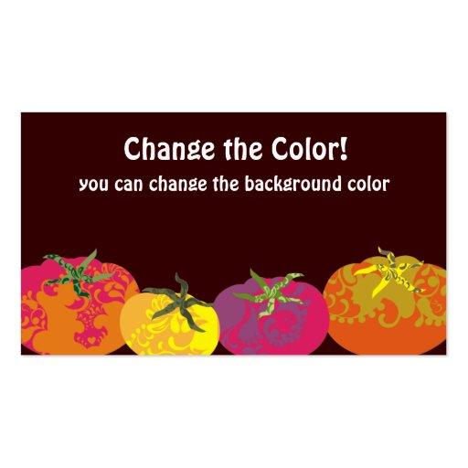 Abastecimiento colorido decorativo del cocinero de tarjetas de visita