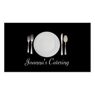 Abastecimiento comida restaurante cocinero tarjetas de negocios