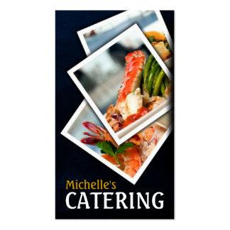 Abastecimiento, comida, restaurante, cocinero, tarjetas de visita