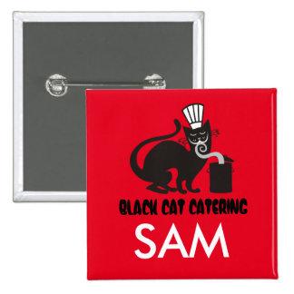 Abastecimiento culinario del gato negro del pin cuadrada 5 cm