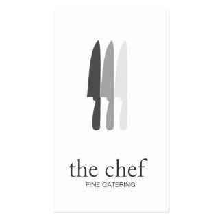Abastecimiento culinario simple del cocinero del tarjetas de visita