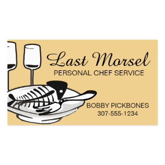 abastecimiento de encargo del cocinero de las tarjetas de visita