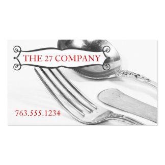 Abastecimiento elegante del cocinero de los cubier plantilla de tarjeta personal