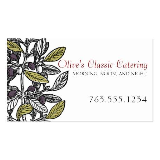 Abastecimiento gastrónomo del cocinero de la rama tarjetas de visita