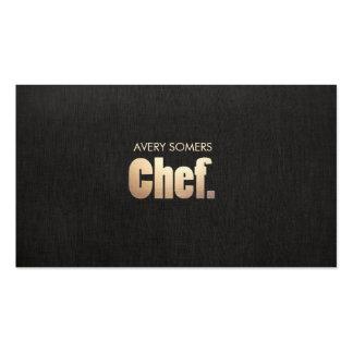 Abastecimiento personal simple del cocinero tarjetas de visita
