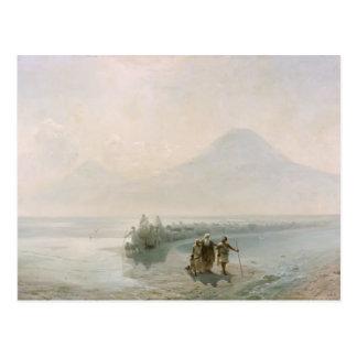 Abatimiento de Ivan Aivazovsky- de Noah de Ararat Tarjetas Postales