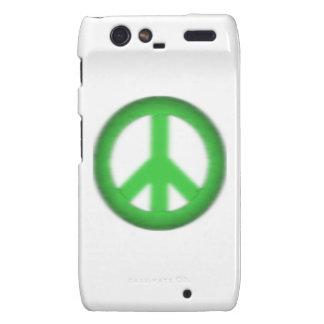 abatimiento simple de la paz motorola droid RAZR carcasa