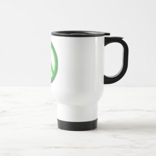 abatimiento simple de la paz taza de café