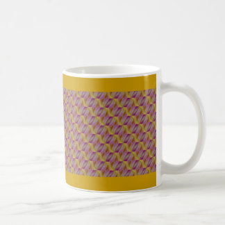 Abatract de oro y púrpura real taza básica blanca