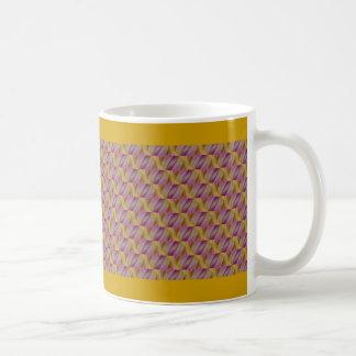 Abatract de oro y púrpura real taza clásica