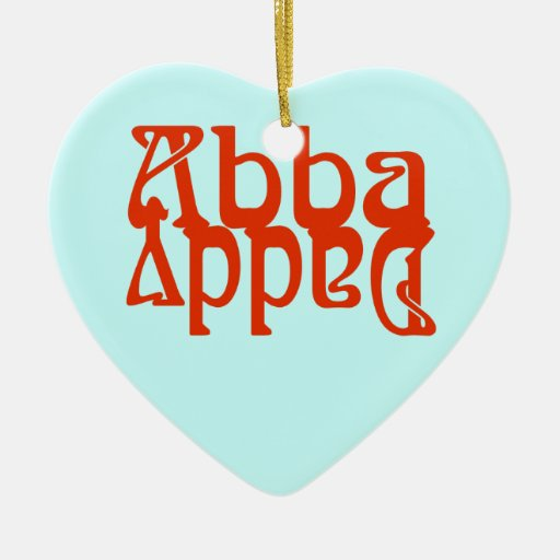 Abba Daddy (Father God) Double-Sided Heart Ceramic Christmas Ornament