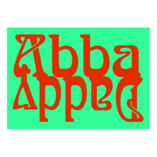 Abba Daddy (Father God) Tract Cards / Large Business Cards (Pack Of 100)