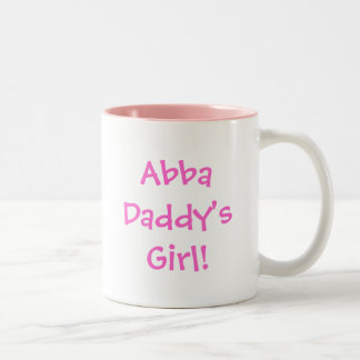 Abba Daddy's Girl! Two-Tone Coffee Mug