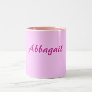 Abbagail Pinks and white mug