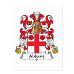 Abbans Family Crest Post Card