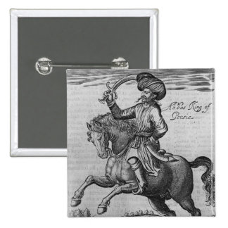 Abbas King of Persia, illustration Pinback Buttons