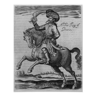 Abbas King of Persia, illustration Poster