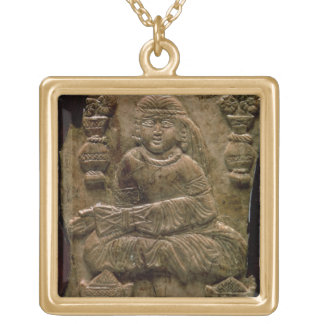 Abbasid Plaque, Iraq or Iran, 12th century (ivory) Gold Plated Necklace