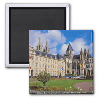 Abbaye Aux Hommes, Caen, Calvados, Normandy, Franc 2 Inch Square Magnet