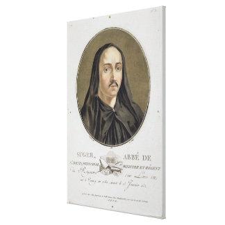 Abbe de Suger (1082-1151) from 'Portraits des gran Canvas Print