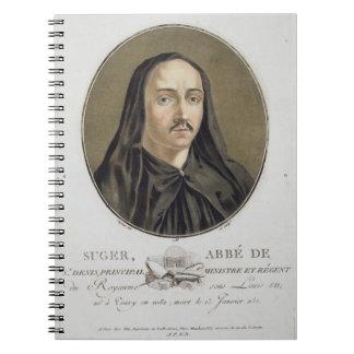 Abbe de Suger (1082-1151) from 'Portraits des gran Spiral Notebook