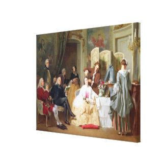 Abbe Prevost reading 'Manon Lescaut', 1856 Canvas Print