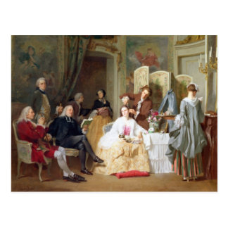 Abbe Prevost reading 'Manon Lescaut', 1856 Postcard