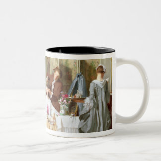Abbe Prevost reading 'Manon Lescaut', 1856 Two-Tone Coffee Mug