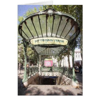 Abbesses Metro, Montmartre, Paris Card