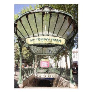Abbesses Metro, Montmartre, Paris Postcard
