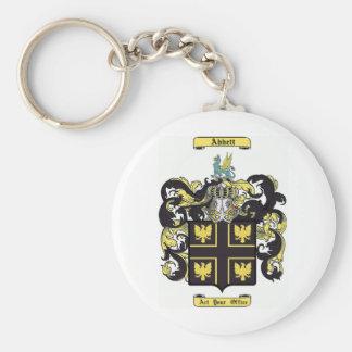 Abbett Basic Round Button Keychain