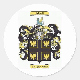 Abbett Classic Round Sticker