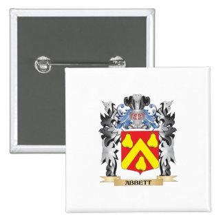 Abbett Coat of Arms - Family Crest 2 Inch Square Button