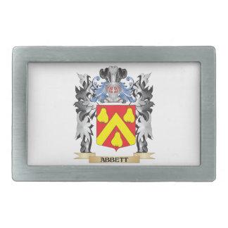 Abbett Coat of Arms - Family Crest Rectangular Belt Buckles