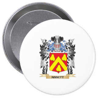Abbett Coat of Arms - Family Crest 4 Inch Round Button