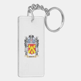 Abbett Coat of Arms - Family Crest Double-Sided Rectangular Acrylic Keychain