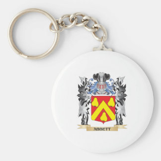 Abbett Coat of Arms - Family Crest Basic Round Button Keychain