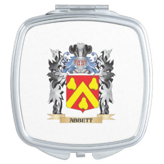 Abbett Coat of Arms - Family Crest Mirror For Makeup