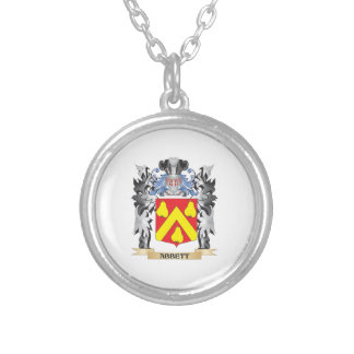 Abbett Coat of Arms - Family Crest Round Pendant Necklace