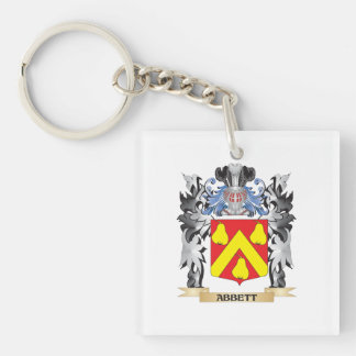 Abbett Coat of Arms - Family Crest Single-Sided Square Acrylic Keychain