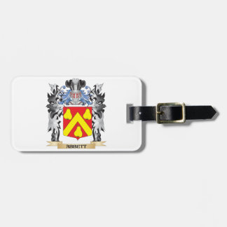 Abbett Coat of Arms - Family Crest Tags For Luggage